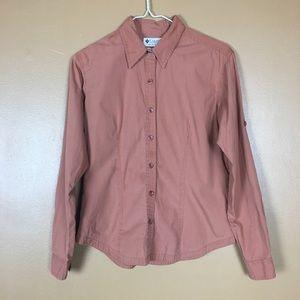 Columbia / burnt orange dress blouse